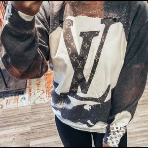 L.   V.   Inspired 1 of A Kind Tie-dyed Sweatshirt